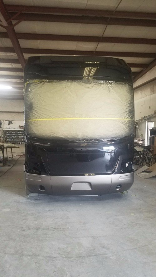 RV collision repair insurance claim